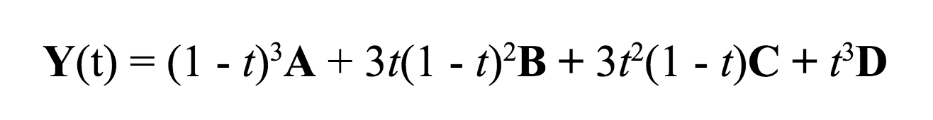 The explicit form of the Bézier equation